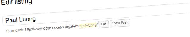 Listing - Title