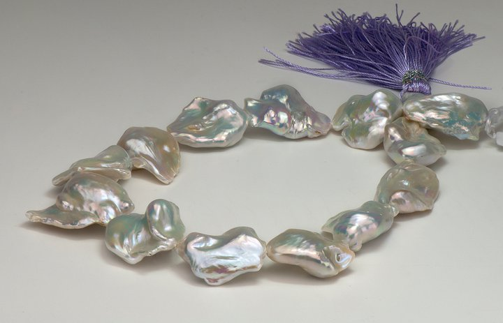 Giant, exotic pearl strands