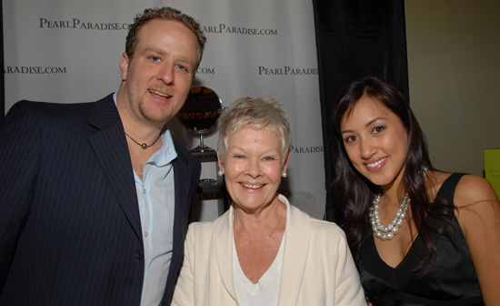 With Judi Dench